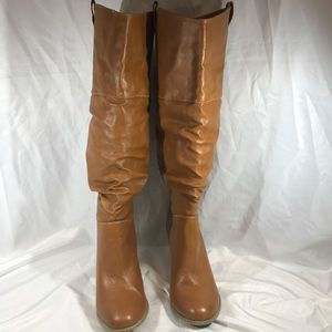 🐴FOREVER 21 BROWN TALL HEELED RIDING BOOTS🐴 Sz 8